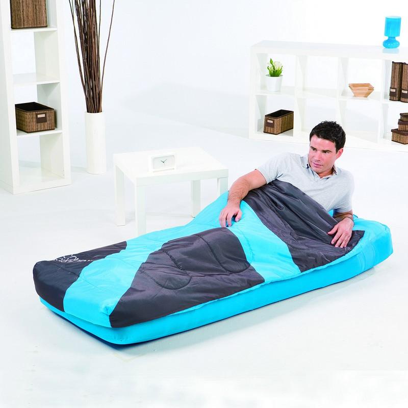 Matelas sac de couchage int gr 1 personne bestway bleu - Lit gonflable avec sac de couchage integre ...