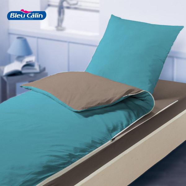 Caradou 90 x 190 cm Poivre/Tilleul - Bleu Câlin