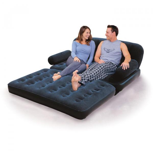 canap gonflable convertible matelas bestway bleu nuit. Black Bedroom Furniture Sets. Home Design Ideas