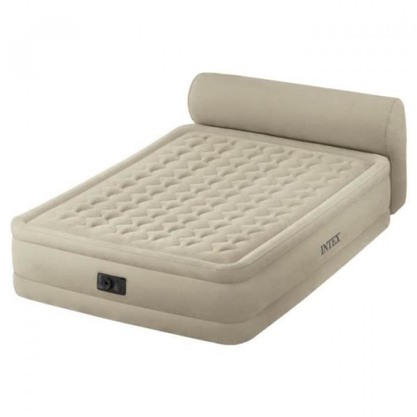 Lit gonflable électrique 2 personnes Intex Headboard Bed Fiber-Tech