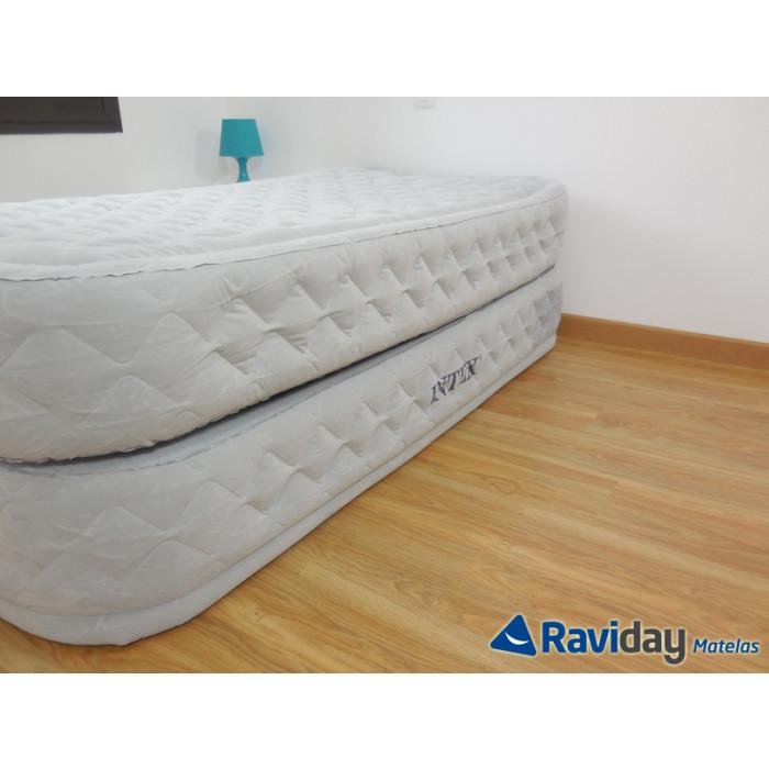 matelas gonflable lectrique 1 place intex supreme bed fiber tech achat sur raviday matelas. Black Bedroom Furniture Sets. Home Design Ideas