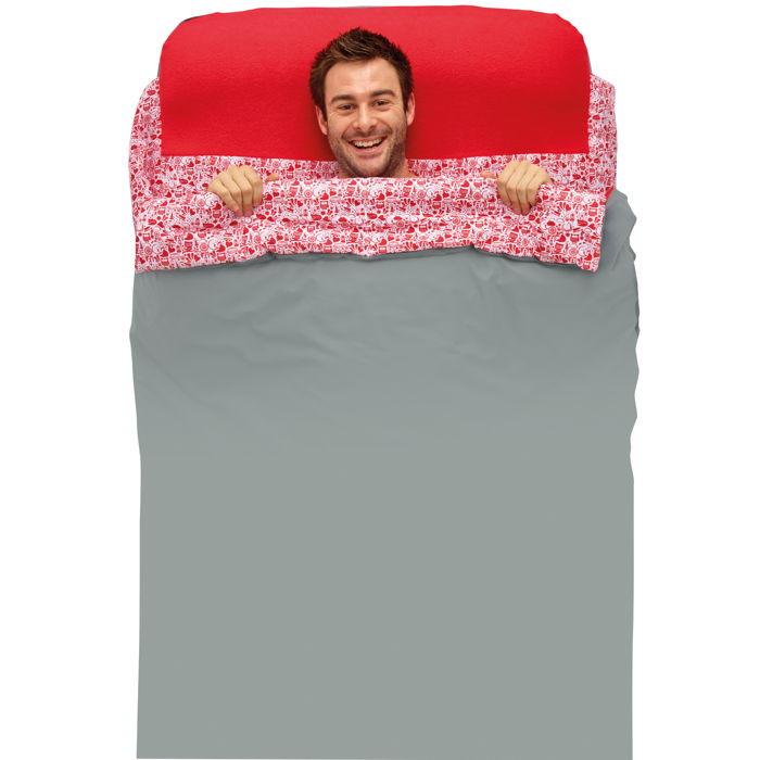 Matelas gonflable avec sac de couchage int gr 1 personne - Drap housse pour matelas gonflable ...