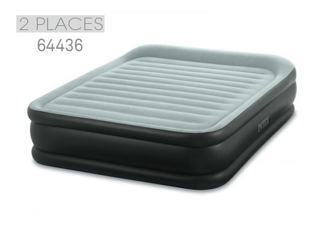 matelas electrique gonflable 2 places intex rest bed deluxe fiber tech raviday matelas. Black Bedroom Furniture Sets. Home Design Ideas