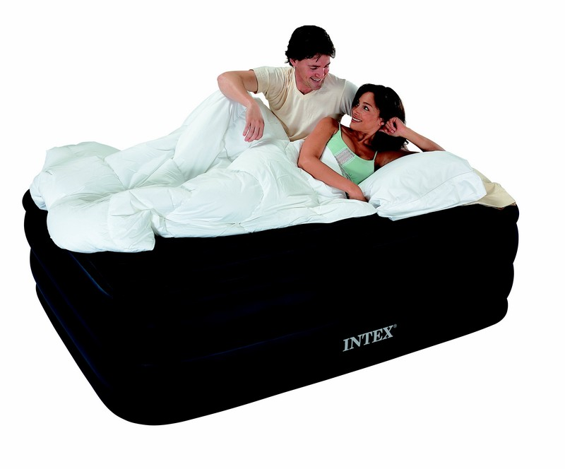 lit gonflable deux personnes intex raised downy bed. Black Bedroom Furniture Sets. Home Design Ideas