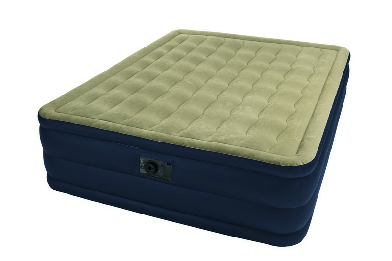Matelas lectrique gonflable 2 places intex plush bed for Intex matelas gonflable electrique