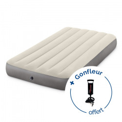 Matelas gonflable Intex Downy Fiber-Tech 1 place - Blanc