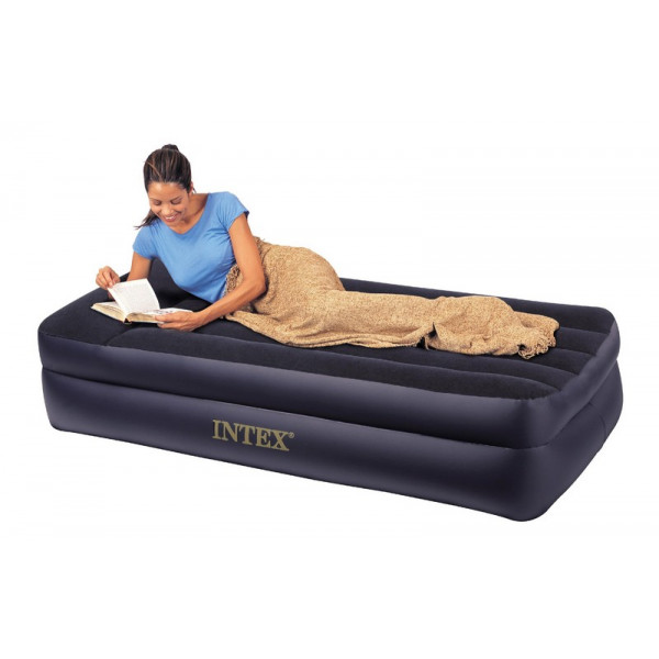 matelas gonflable intex rest bed pillow 1 personne lit d. Black Bedroom Furniture Sets. Home Design Ideas