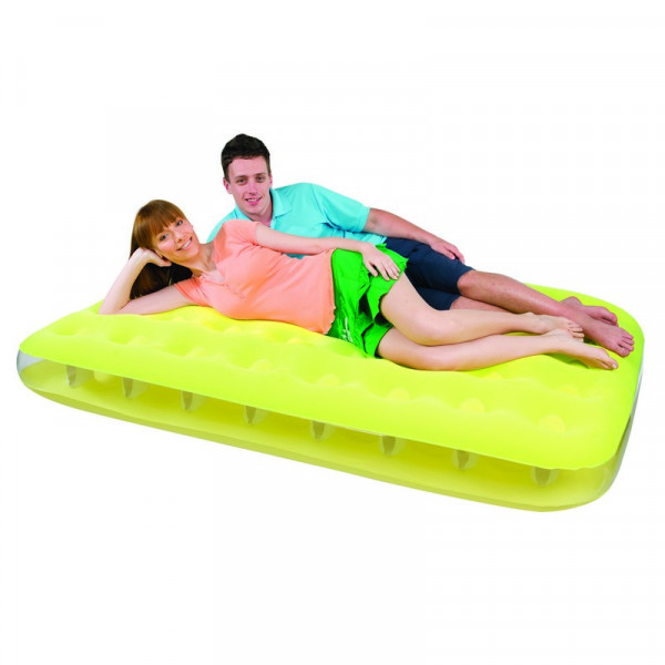 Matelas gonflable 2 places Bestway fashion jaune - EP