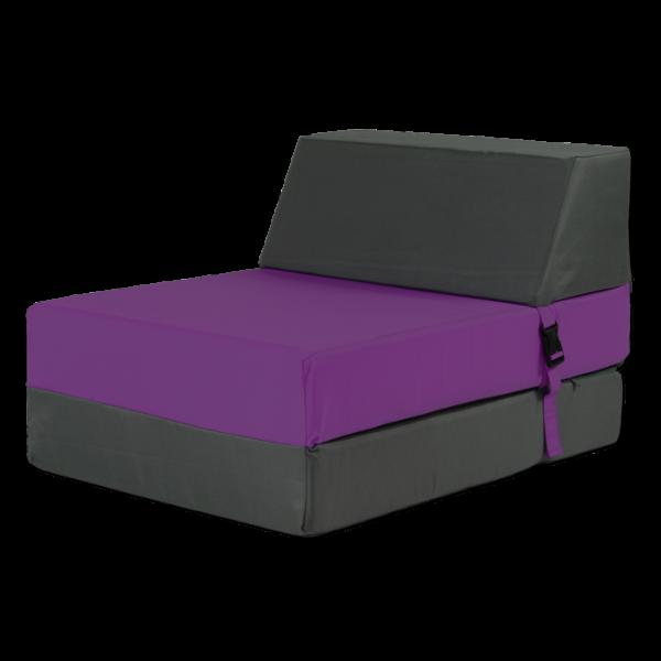 Chauffeuse convertible pour enfant 1 place Anthracite / Violet
