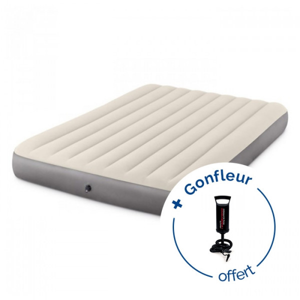 Matelas gonflable Intex Downy Fiber-Tech 2 places XL