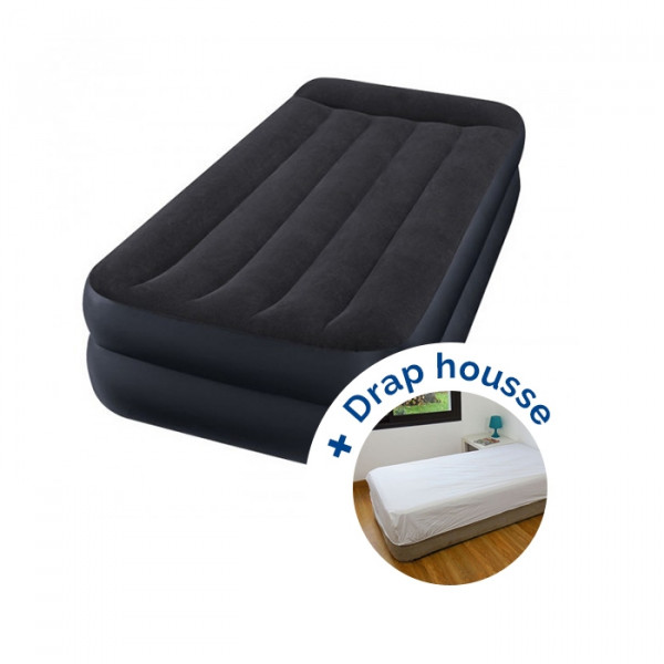 Matelas Rest Bed Fiber-Tech Intex + drap housse