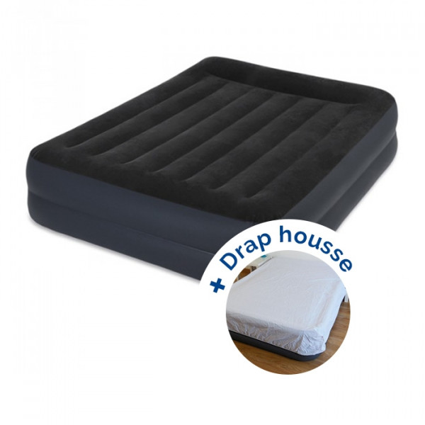 Matelas gonflable Intex Rest Bed Fiber-Tech 203 + drap housse
