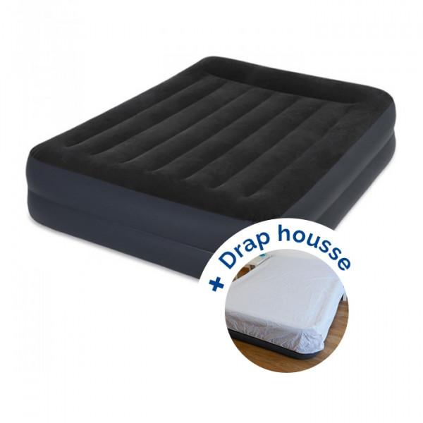 Matelas gonflable Intex Rest Bed Fiber-Tech 203 + drap housse