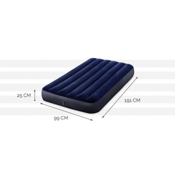 Matelas gonflable Intex Downy Classic FT 1 place - 191 x 99 x 25 cm