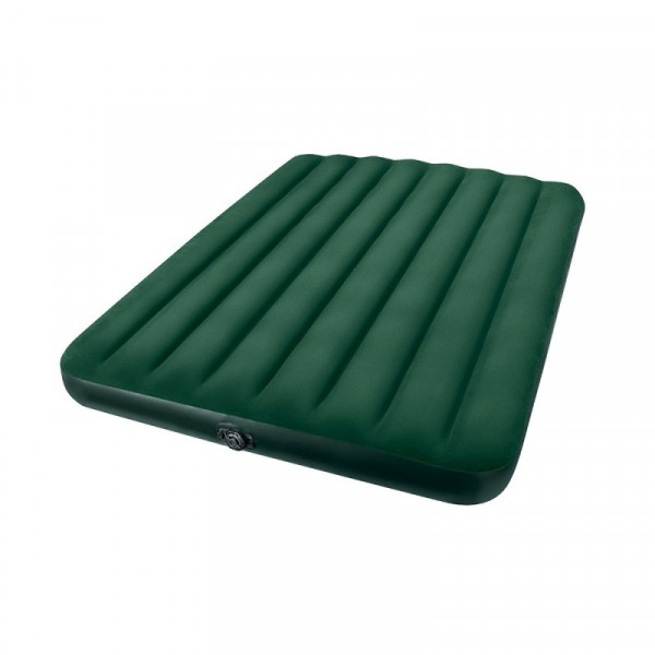 Matelas gonflable Intex Downy Prestige 2 places + Gonfleur à piles