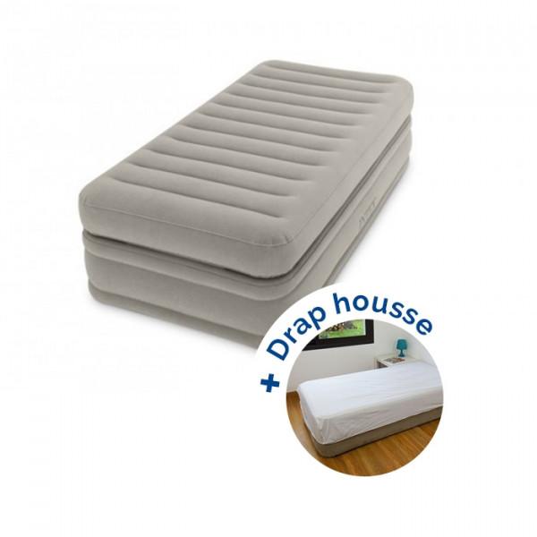 Lit gonflable électrique Intex Prime Comfort 1 place + drap housse