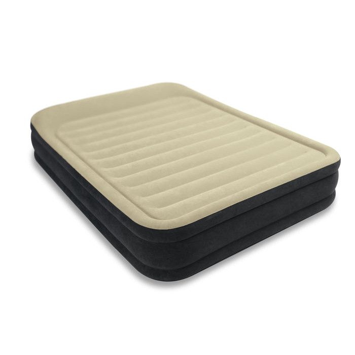 matelas lectrique gonflable 2 places intex queen premium. Black Bedroom Furniture Sets. Home Design Ideas