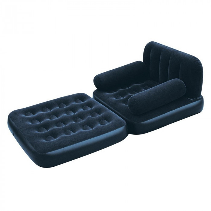 fauteuil gonflable convertible matelas bestway bleu nuit. Black Bedroom Furniture Sets. Home Design Ideas