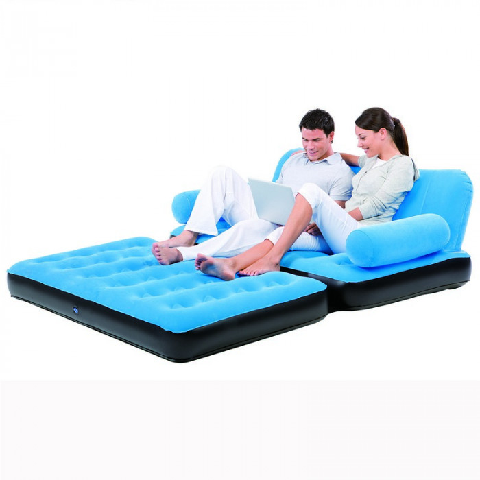 canap matelas gonflable bestway bleu raviday matelas. Black Bedroom Furniture Sets. Home Design Ideas