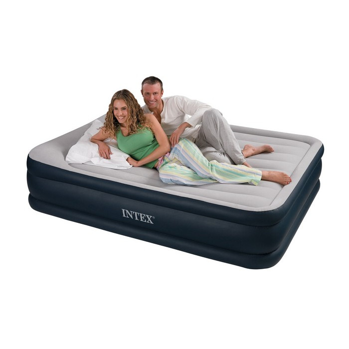 Intex rest bed deluxe 67738 matelas gonflable lectrique for Intex matelas gonflable electrique