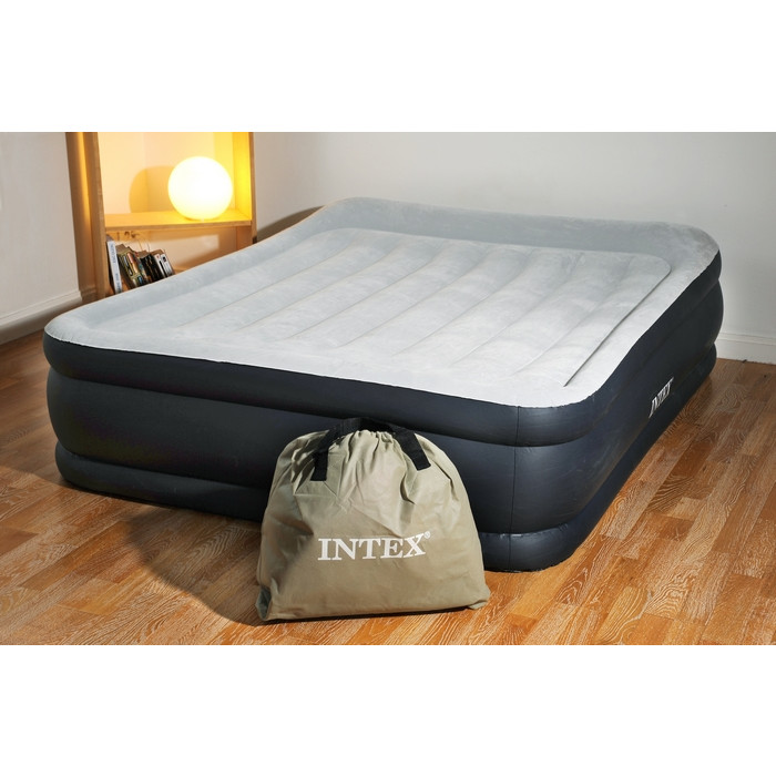 intex rest bed deluxe 67738 matelas gonflable lectrique. Black Bedroom Furniture Sets. Home Design Ideas