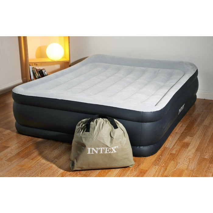 matelas gonflable intex pillow deluxe 2 personnes. Black Bedroom Furniture Sets. Home Design Ideas