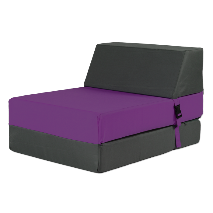 chauffeuse 1 place convertible pour enfant violet gris. Black Bedroom Furniture Sets. Home Design Ideas