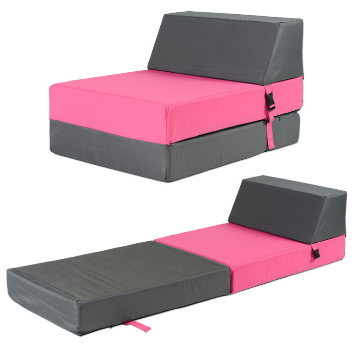 chauffeuse convertible pour enfant 1 place fuschia. Black Bedroom Furniture Sets. Home Design Ideas