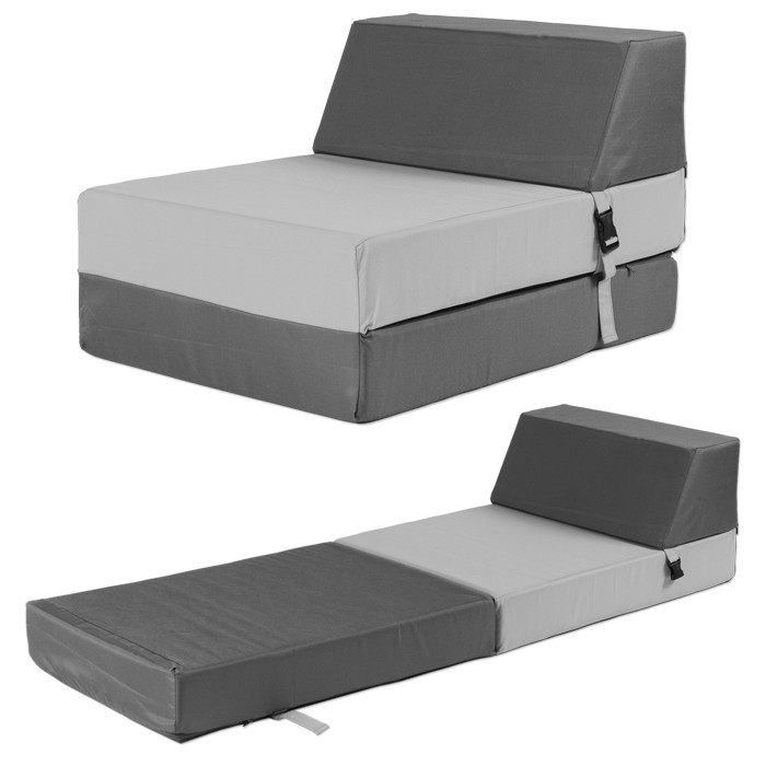 chauffeuse convertible pour enfant 1 place gris. Black Bedroom Furniture Sets. Home Design Ideas