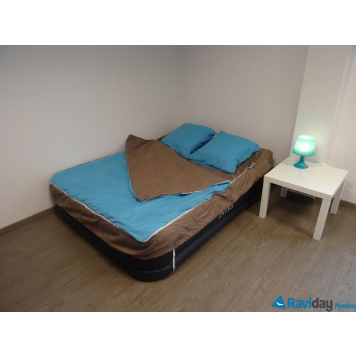 combicouette bleu calin pour matelas gonflable 2 personnes bleu paon pralin raviday matelas. Black Bedroom Furniture Sets. Home Design Ideas