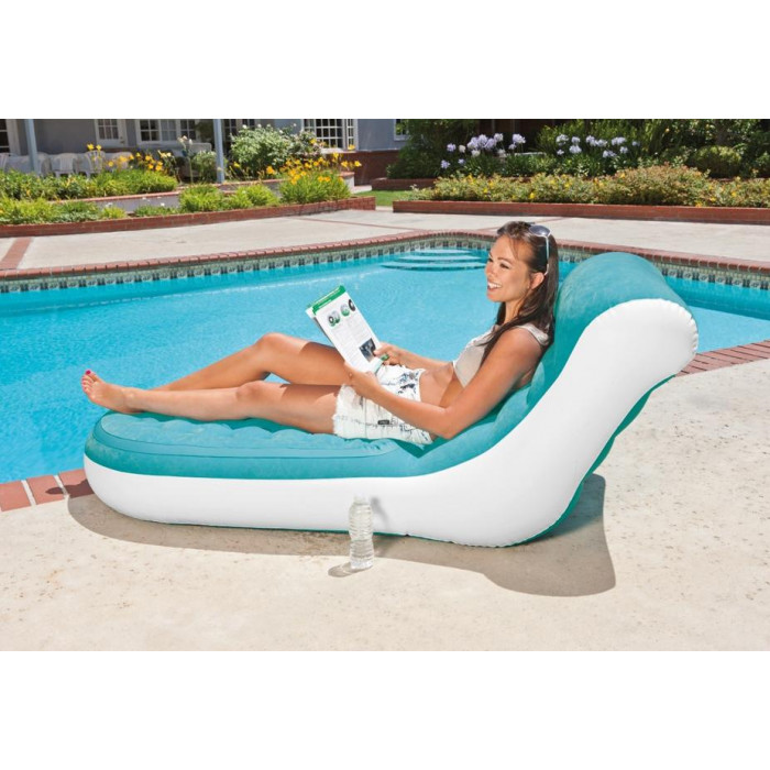 Fauteuil gonflable Intex Splash Lounge Bleu - Raviday