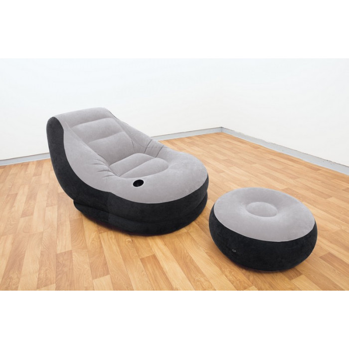 fauteuil gonflable et repose pied intex. Black Bedroom Furniture Sets. Home Design Ideas