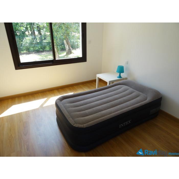 matelas intex rest bed deluxe lit gonflable lectrique 1 place. Black Bedroom Furniture Sets. Home Design Ideas