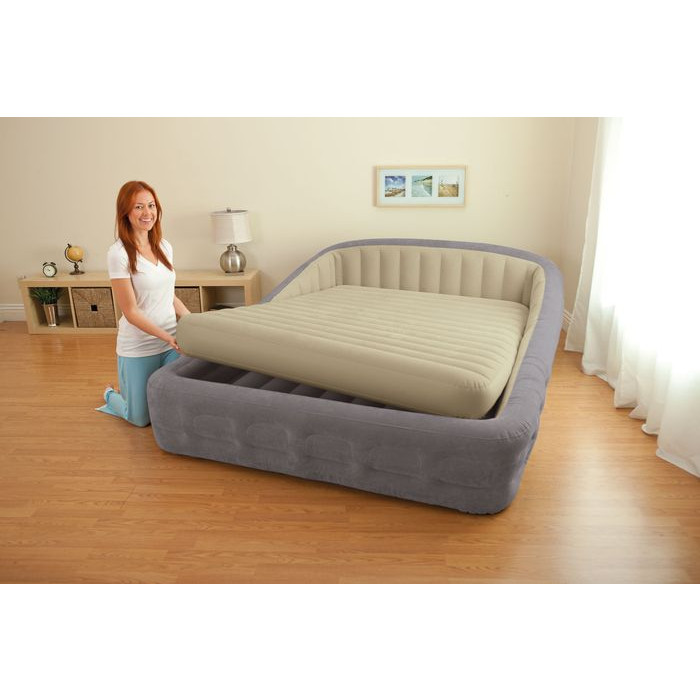 Lit gonflable intex comfort frame xxl matelas gonflable 2 - Matelas gonflable a l air ...
