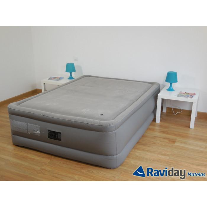 intex foam top fiber tech 2 places lit gonflable lectrique intex 2016. Black Bedroom Furniture Sets. Home Design Ideas