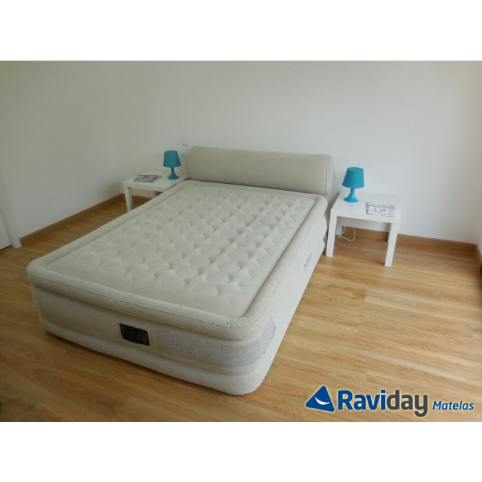 Lit gonflable lectrique 2 personnes intex headboard bed fiber tech raviday matelas - Lit gonflable intex ...