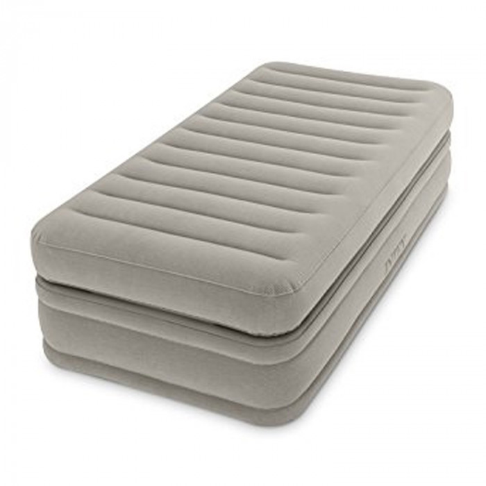 Lit gonflable intex prime comfort fiber tech 1 place for Intex matelas gonflable electrique