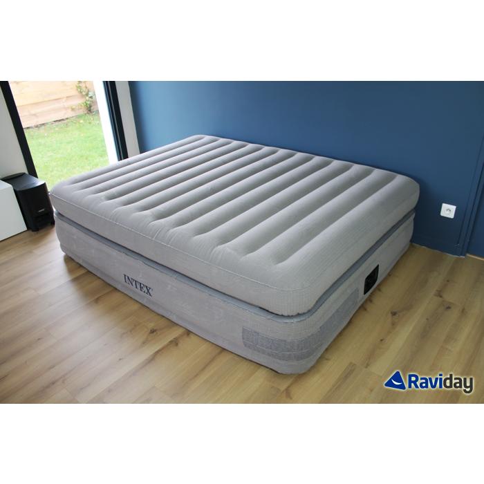 Matelas lit gonflable intex prime comfort 2 places for Lit 5 places