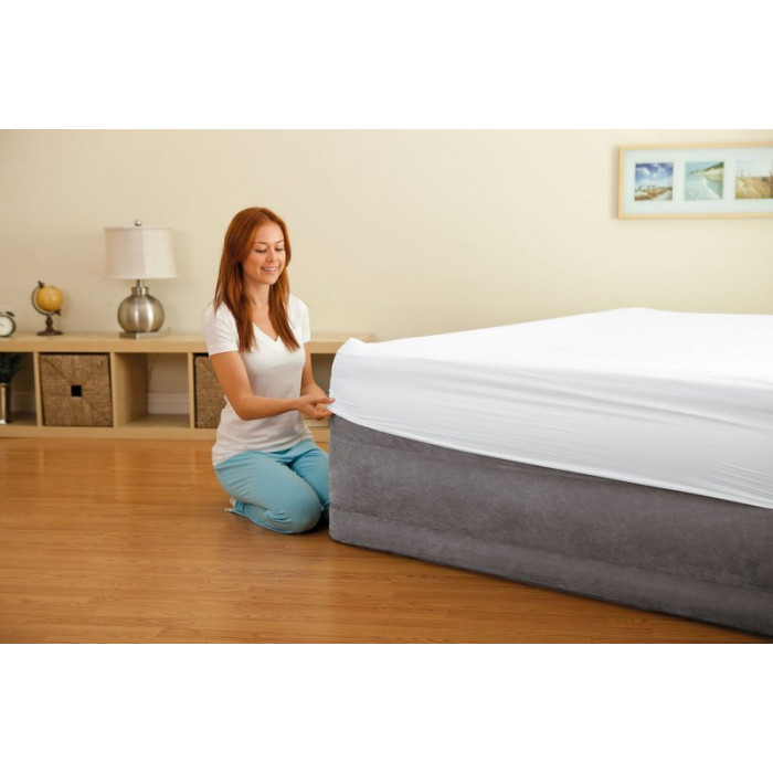 lit gonflable intex comfort plush high fiber tech 2 places. Black Bedroom Furniture Sets. Home Design Ideas