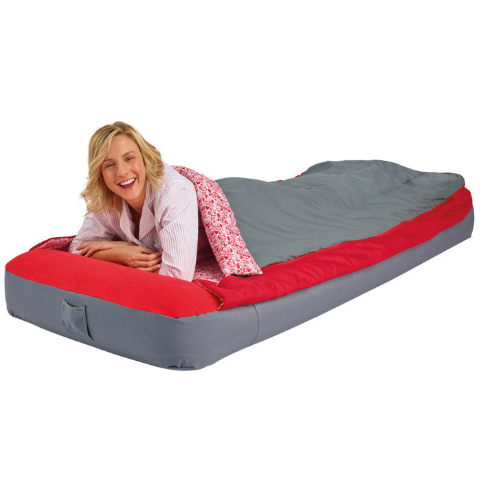 matelas gonflable readybed deluxe 1 place avec sac de couchage int gr. Black Bedroom Furniture Sets. Home Design Ideas