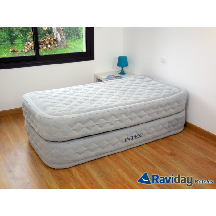matelas lit gonflable intex supreme bed fiber tech 1 place. Black Bedroom Furniture Sets. Home Design Ideas