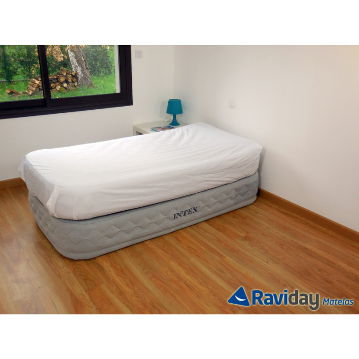 Matelas lit gonflable intex supreme bed fiber tech 1 place - Matelas gonflable ez bed ...