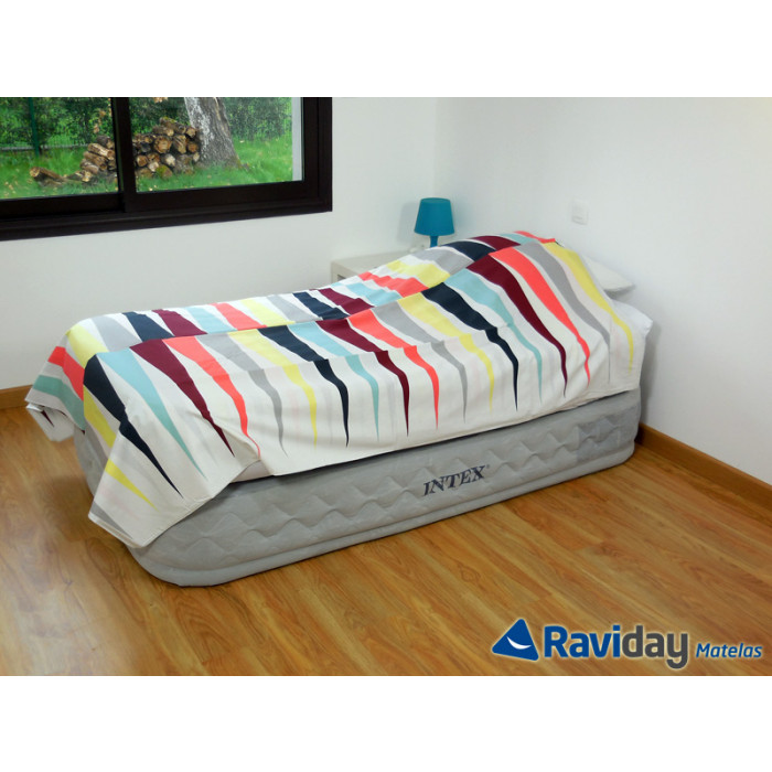 Matelas Lit Gonflable Intex Supreme Bed Fiber Tech 1 Place