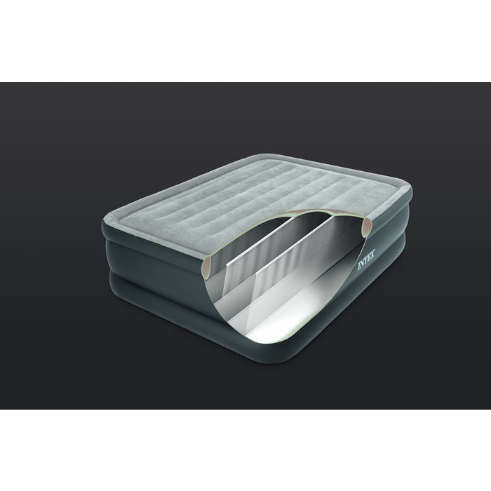 matelas lit gonflable intex essential rest bed fiber-tech 2 places