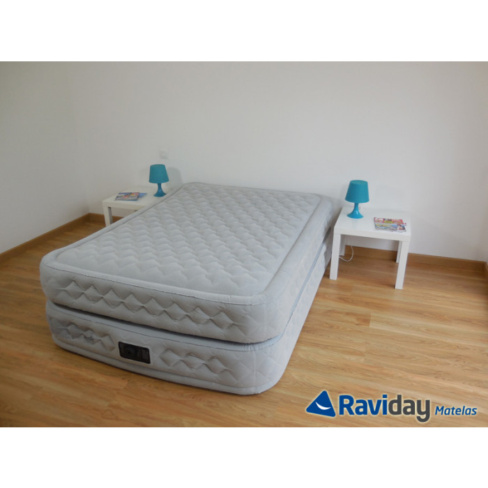 matelas gonflable electrique 1 place intex supreme bed fiber-tech