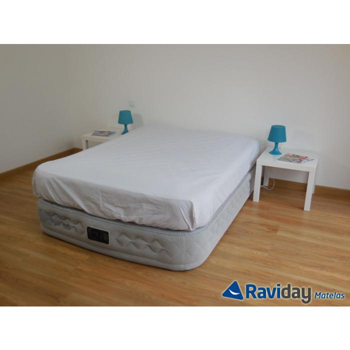 Lit electrique 2 personnes avec matelas simple lit - Lit gonflable confort supreme 2 personnes ...