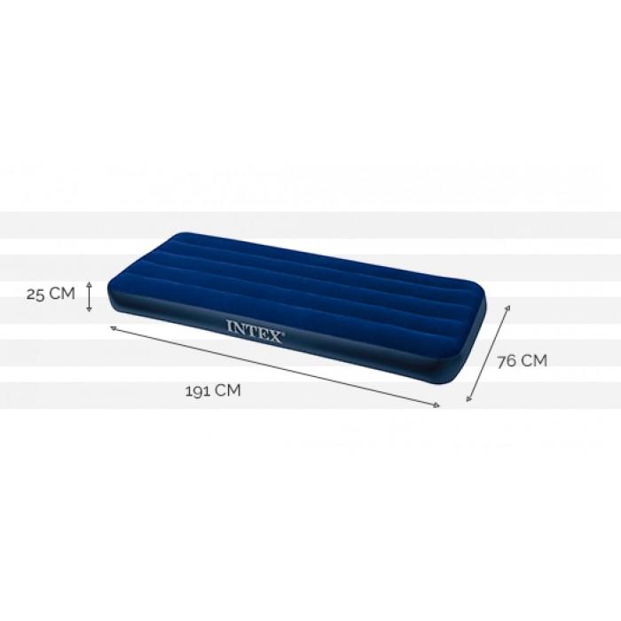 bleu ou rose Intex 59895-Matelas gonflable 18-Trou-Jetée-Conception neu-ca.188x71cm
