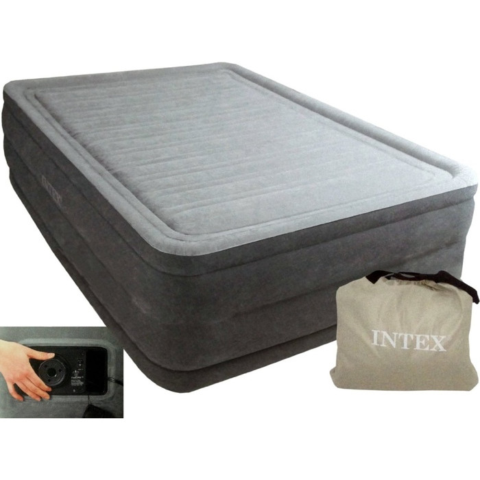 Lit gonflable 2 personnes intex comfort plush high - Matelas gonflable pompe electrique integree ...