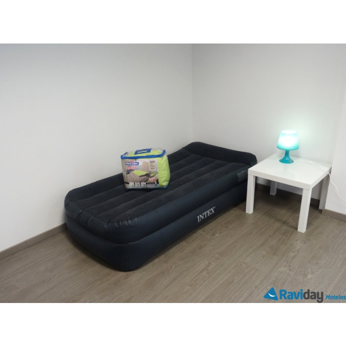 matelas gonflable simple intex rest bed 1 place. Black Bedroom Furniture Sets. Home Design Ideas