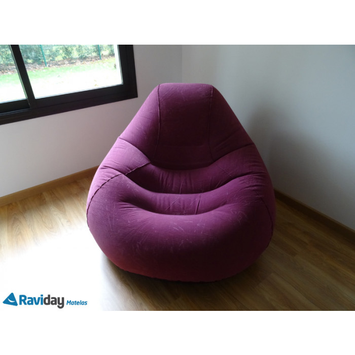 pouf gonflable intex deluxe beanless bag chair violet raviday matelas. Black Bedroom Furniture Sets. Home Design Ideas